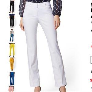 NY&CO White Straight leg dress pant 2 Avg NWT